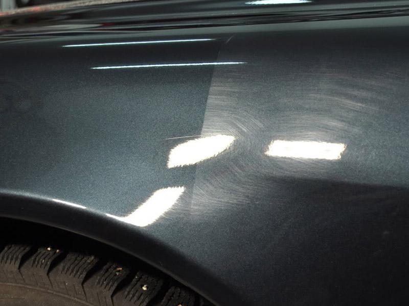 Фото до и после полировки автомобиля