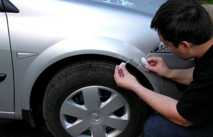 фото ремонт скола на кузове авто