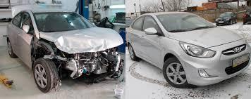 Фото ремонта капота авто до и после