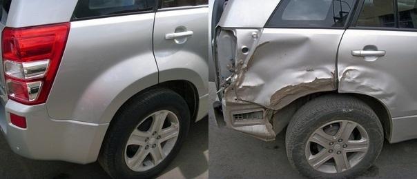 Фото ремонта крыла авто до после