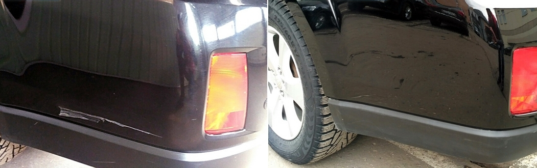 фото ремонт царапин до и после